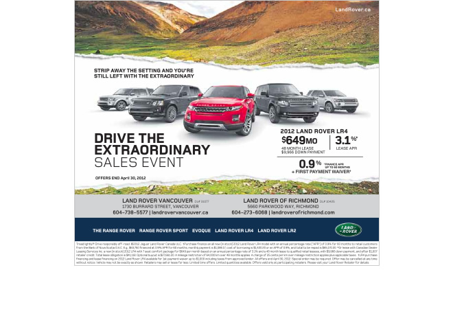 Jagaur Land Rover Canada Drive The Extraordinary Campaign Chinese Ad